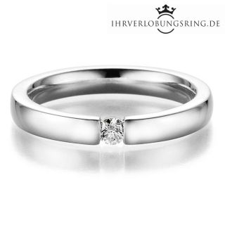 Verlobungsring Infinity Silber Diamant 0,10ct TW/Si
