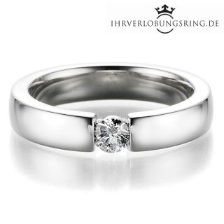 Verlobungsring Infinity Silber Diamant 0,25ct TW/Si